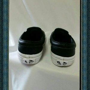 black leather vans kids